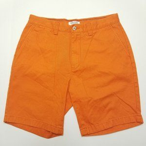 Nautica Orange Chino Shorts - Clipper - Flat Front